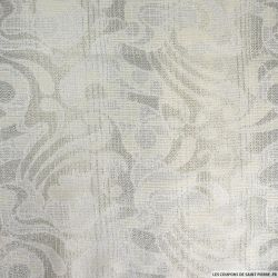 Tweed polycoton fantaisie argent