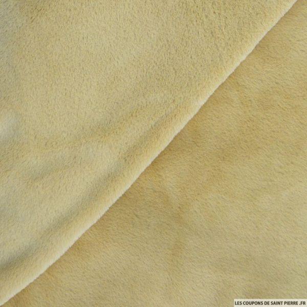 Fausse fourrure lapin beige