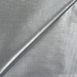 Tissu polyester lamé argent foncé