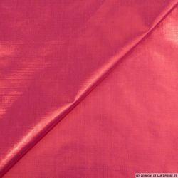 Tissu polyester lamé framboise