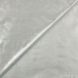 Tissu polyester lamé argent clair
