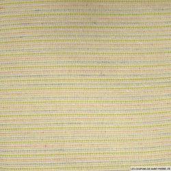 Tweed polycoton acidulé