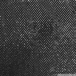 Jersey polyester pailleté rond noir fond noir
