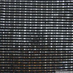 Jersey polyester pailleté geométrique argent fond noir