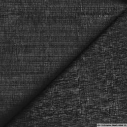 Jacquard polyester noir fils argents