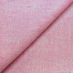 Tweed polyviscose rose