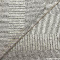 Maille côtelée gris chiné imprimé rayures lurex or