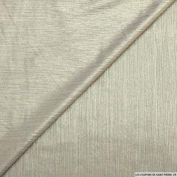 Jersey fin gris clair impression lurex or