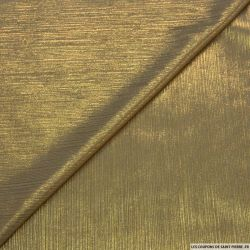Jersey fin kaki impression lurex or