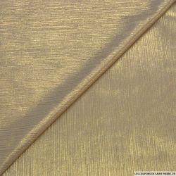 Jersey fin beige impression lurex or