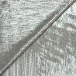 Jersey fin gris clair impression lurex agent