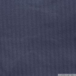 Maille milano polyester à chevron fond blanc