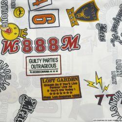 Satin polyester imprimé pop culture