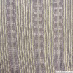 Tweed polycoton contrecollé vieux rose et beige