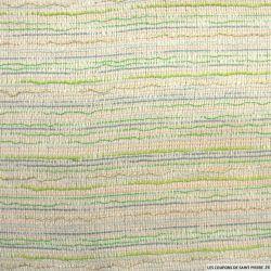 Tweed polycoton vert et bleu