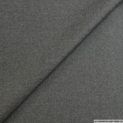 Sergé 100% laine gris anthracite