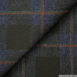 Jean's coton quadrillé noir fond bleu