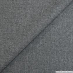 Sergé 100% laine fin gris