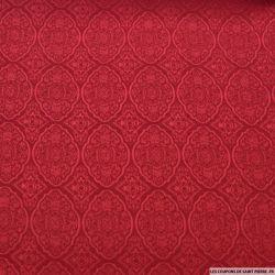 Jacquard arabesque rouge