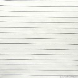 Polyester rayé noir et blanc