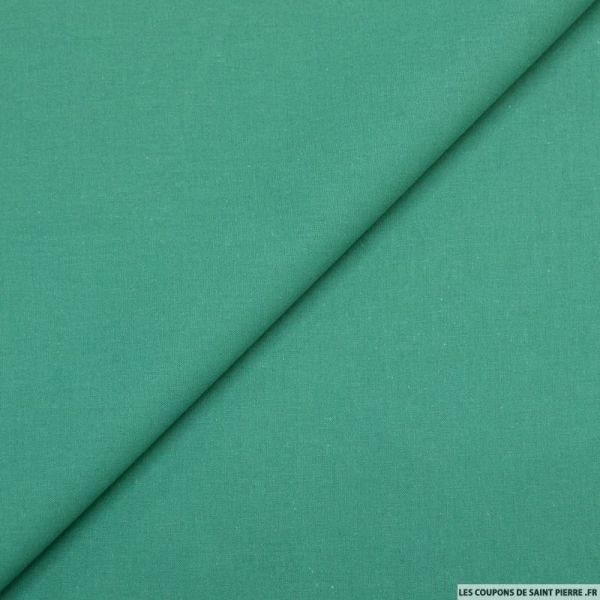 Cretonne de coton émeraude