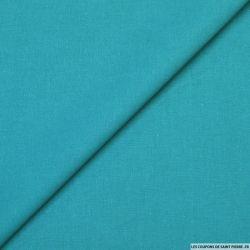 Cretonne de coton turquoise