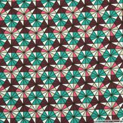 Coton imprimé kaléidoscope canard