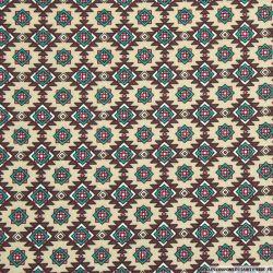Coton imprimé navajo canard