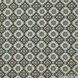 Coton imprimé navajo gris
