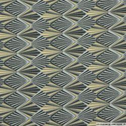 Coton imprimé écailles gris