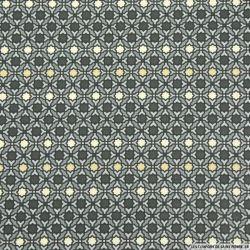 Coton imprimé paravent gris