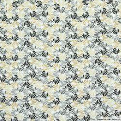 Coton imprimé nid d'abeille gris