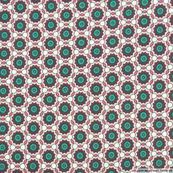 Coton imprimé rosace canard