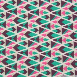 Coton imprimé triangle graphique canard