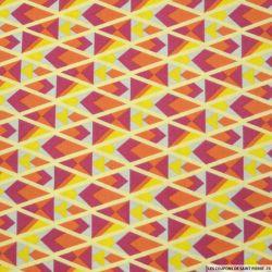 Coton imprimé triangle graphique orange