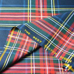 Clan écossais marine et rouge ligne blanche et jaune