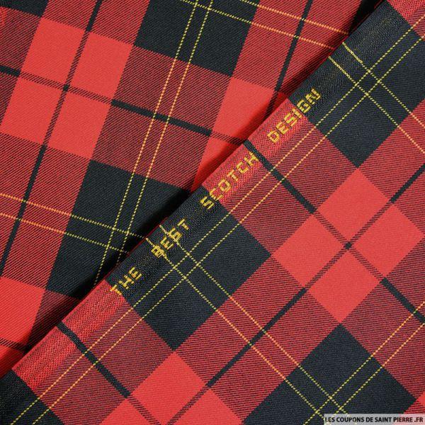 Clan écossais rouge et noir ligne jaune