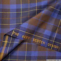 Clan écossais bleu électrique et marron