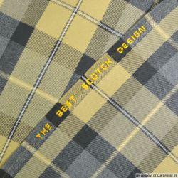 Tissu clan écossais sable et gris