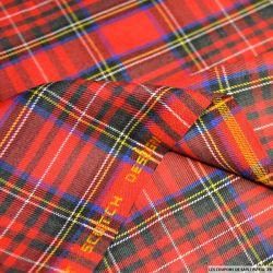 Clan écossais petits carreaux rouge et bleu