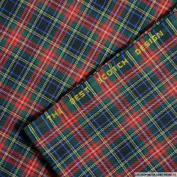 Clan écossais petits carreaux vert, rouge et bleu