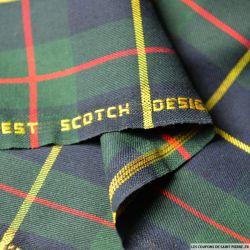 Clan écossais vert, marine lignes rouges et jaunes