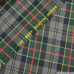 Clan écossais gris, vert lignes rouges et jaunes