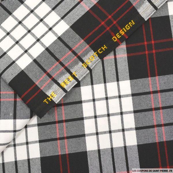 Clan écossais noir, blanc lignes rouges