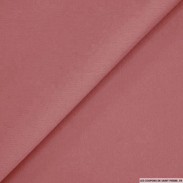 Crêpe polyester envers satin vieux rose