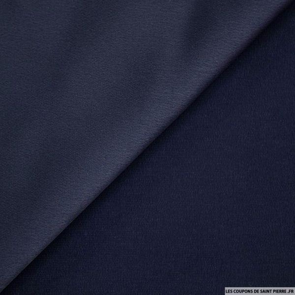 Crêpe polyester envers satin marine