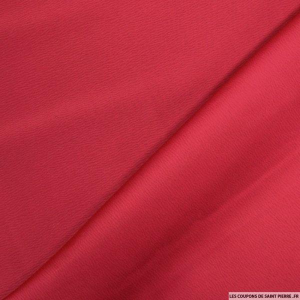 Crêpe polyester envers satin cerise