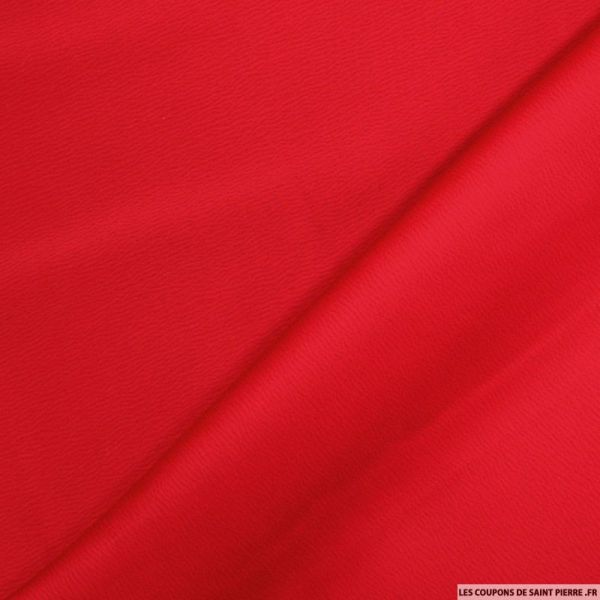 Crêpe polyester envers satin rouge