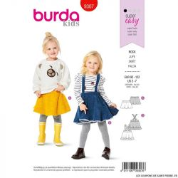 Patron Burda n°9307 : Jupe Enfant
