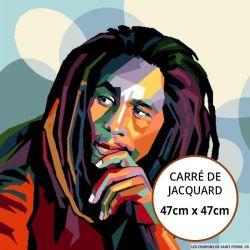 Jacquard Bob Marley - 47cm x 47cm